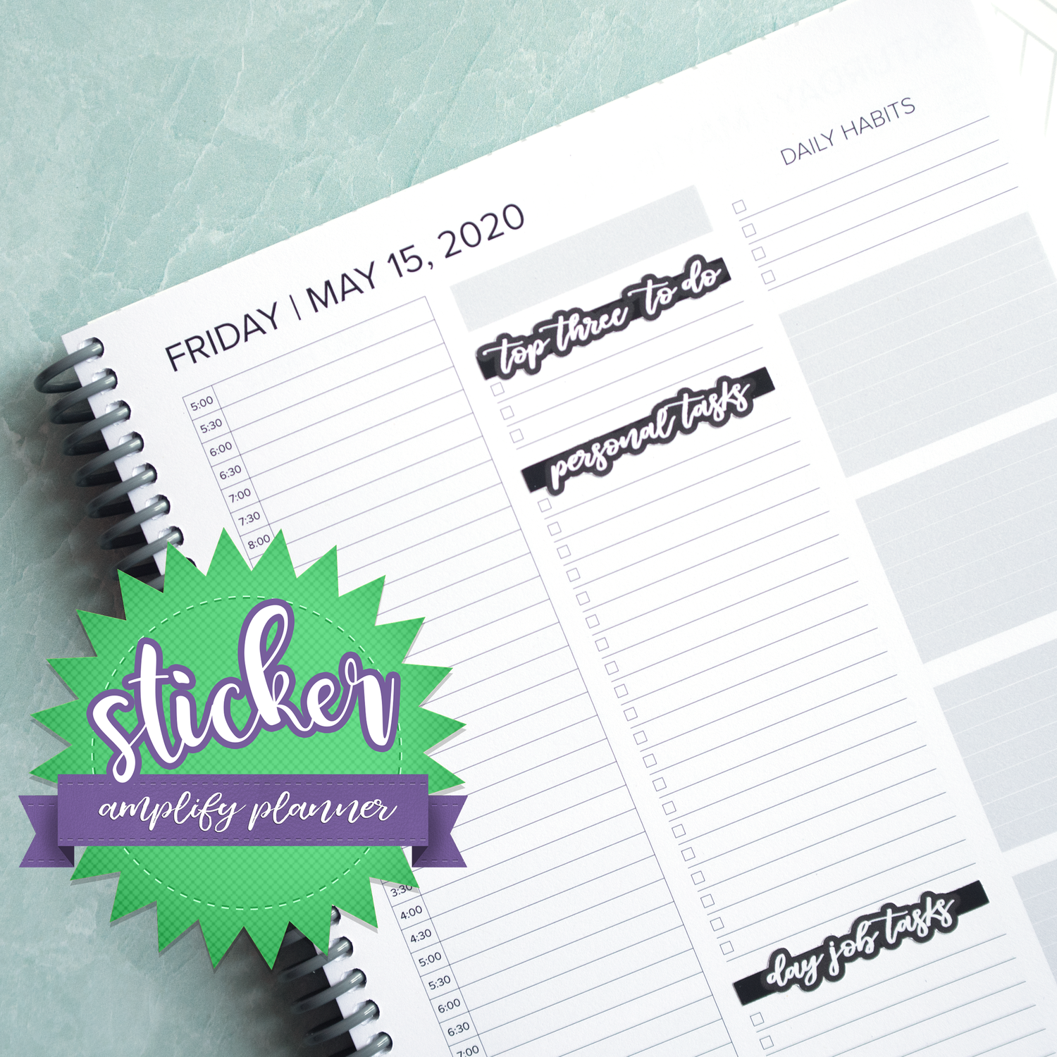 Galaxy Theme Weekly Sticker Kit for Amplify Planner Space Oddity Planner Sticker Kit September Weekly Spread Stickers