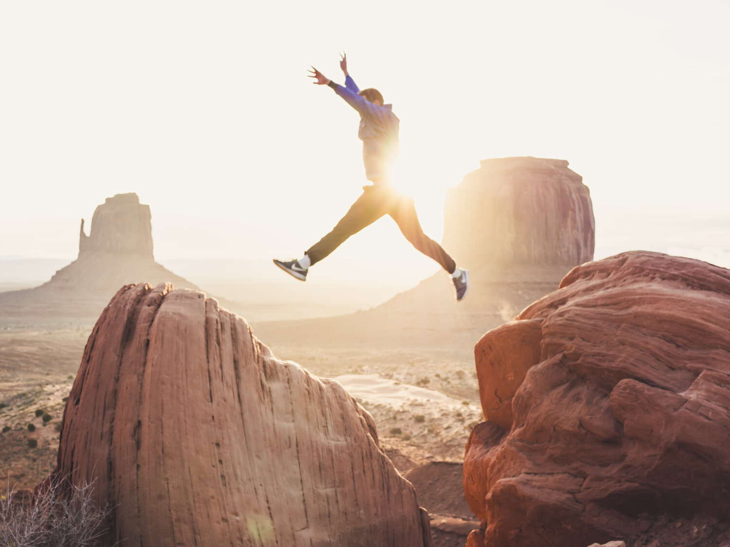 Being a successful leader often means taking a leap of faith.