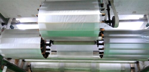 Oblate paper rolls on the drying rack