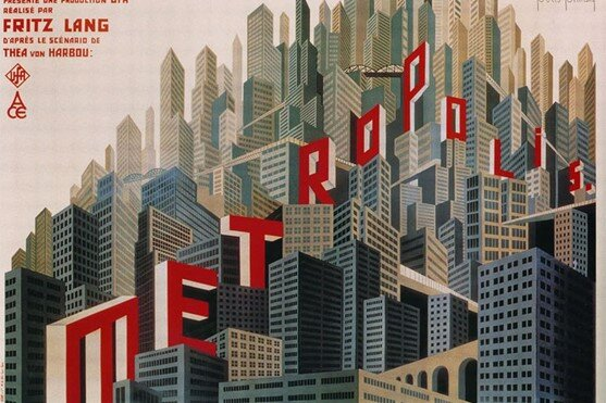Metropolis Poster – a film by Fritz Lang. Does it not resemble Babel, or a great temple?