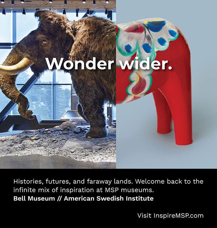 Woolly Mammoth, Bell Museum + Dala Horse, American Swedish Institute