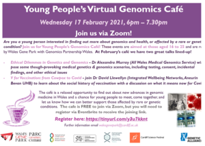 Young People's Virtual Genomics Café