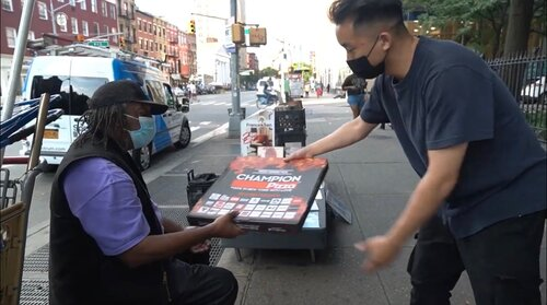 The FungBros Give Away $1,000 Worth Of Goods To People Of New York City