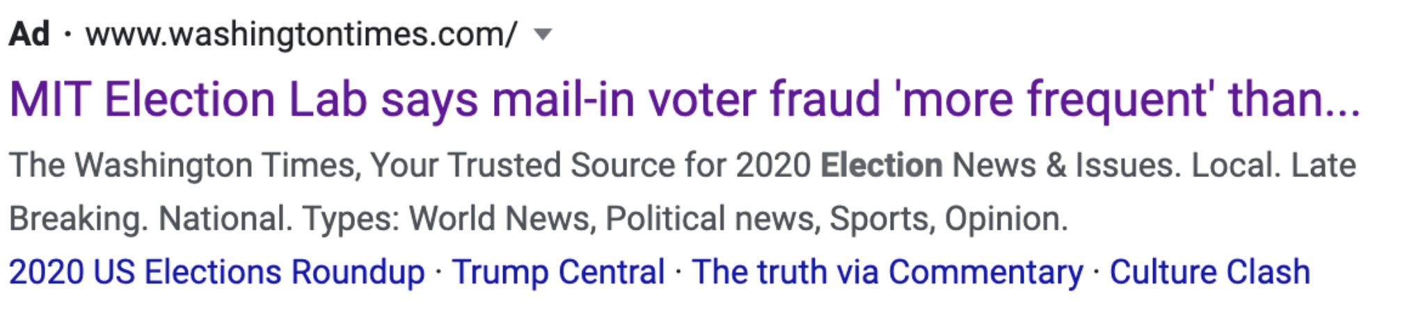 Misleading Ads Highlight Loopholes In Google S Policies Election Integrity Partnership