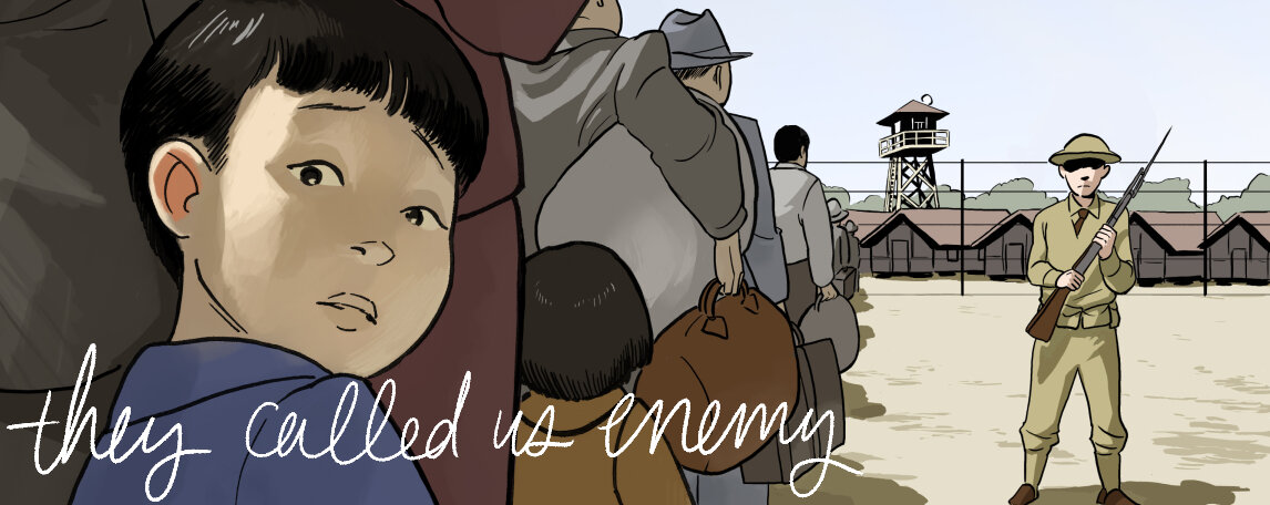 They Called Us Enemy is a graphic memoir that tells the story of George Takei's childhood imprisoned in an American concentration camp during World War II. I did the illustrations for this award-winning, historical graphic novel, which you can now buy - just click the picture!