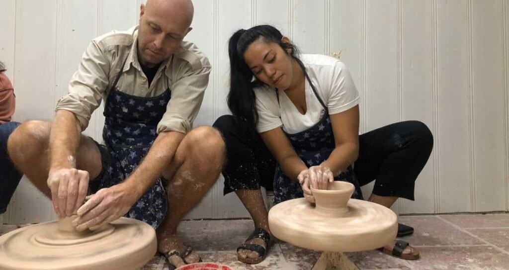 Making pottery in Bat Trang Hanoi
