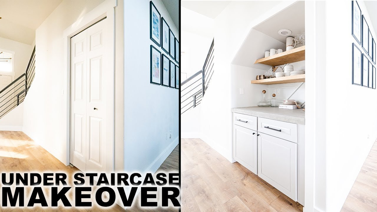 Diy Under Staircase Makeover Closet To Pantry Mr Build It