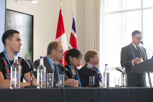 BCRMA panel at the Canadian Mining Symposium in London, England