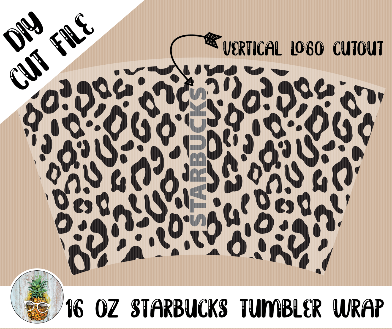 Starbucks 16oz Tumbler Wrap Digital Cut Files Graphics The Paper Pineapple