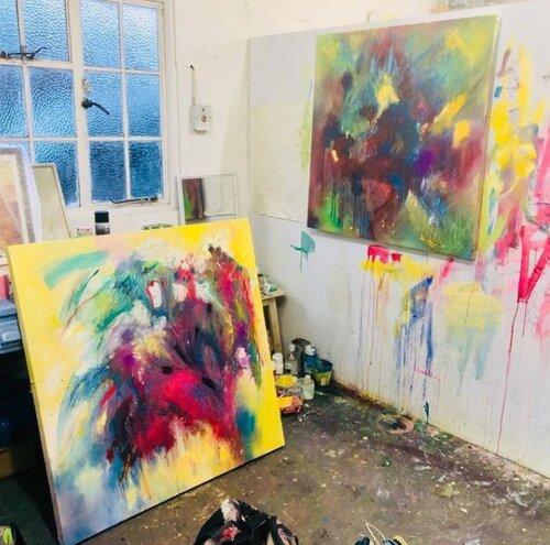 Charlie Betts' studio, 2020