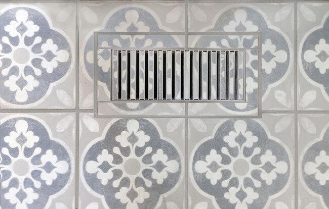 custom tile heat registers tile lines