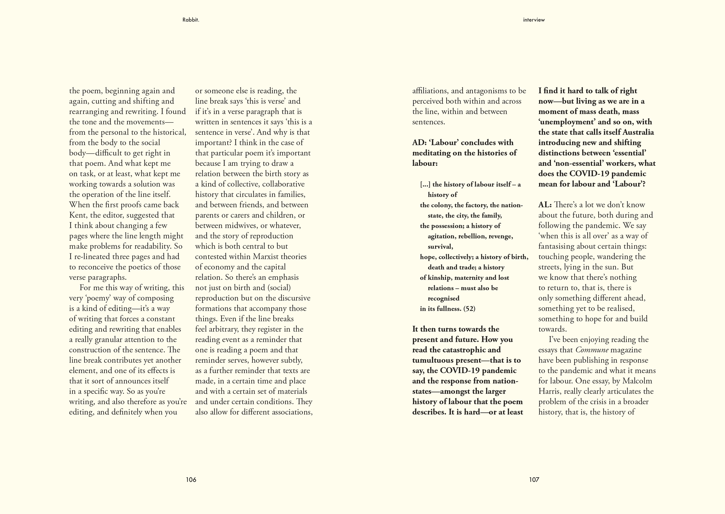 Amelia Dale interviews Astrid Lorange — Rabbit Poetry