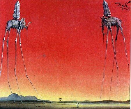 Los elefantes, 1948, Salvador Dalí