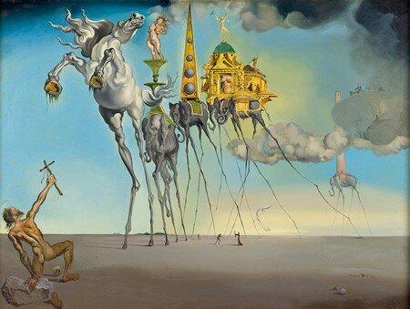 La tentación de San Antonio, 1946, Salvador Dalí