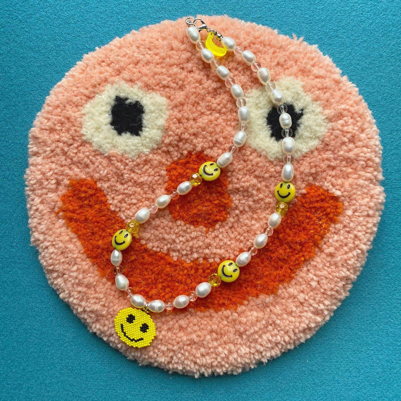 Acid Banana V Amor And Stitch Collaboration Necklace.. 'Happy Monday'
