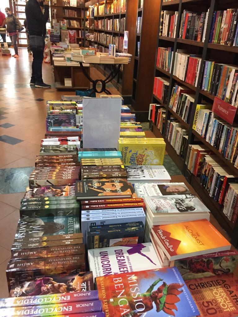 Dreamers and Unicorns on display at  Oxford Book Store , Park Street Kolkata.  Photo courtesy Arjya Chakraborty