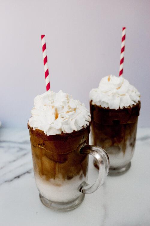 Whipped Café Cubano Over Oat Milk