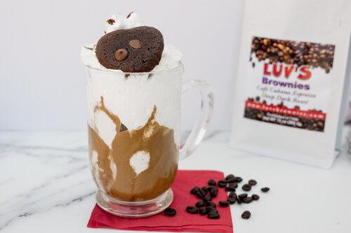 Whipped Café Cubano Over Vanilla Ice Cream