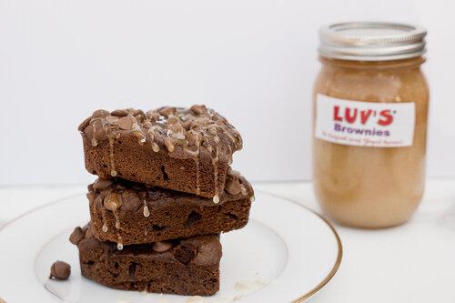 Dulce De Leche Heart-Shaped Brownies