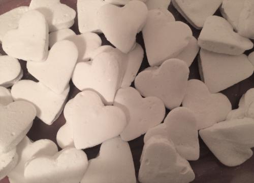 Housemade Heart-Shaped Marshmallows