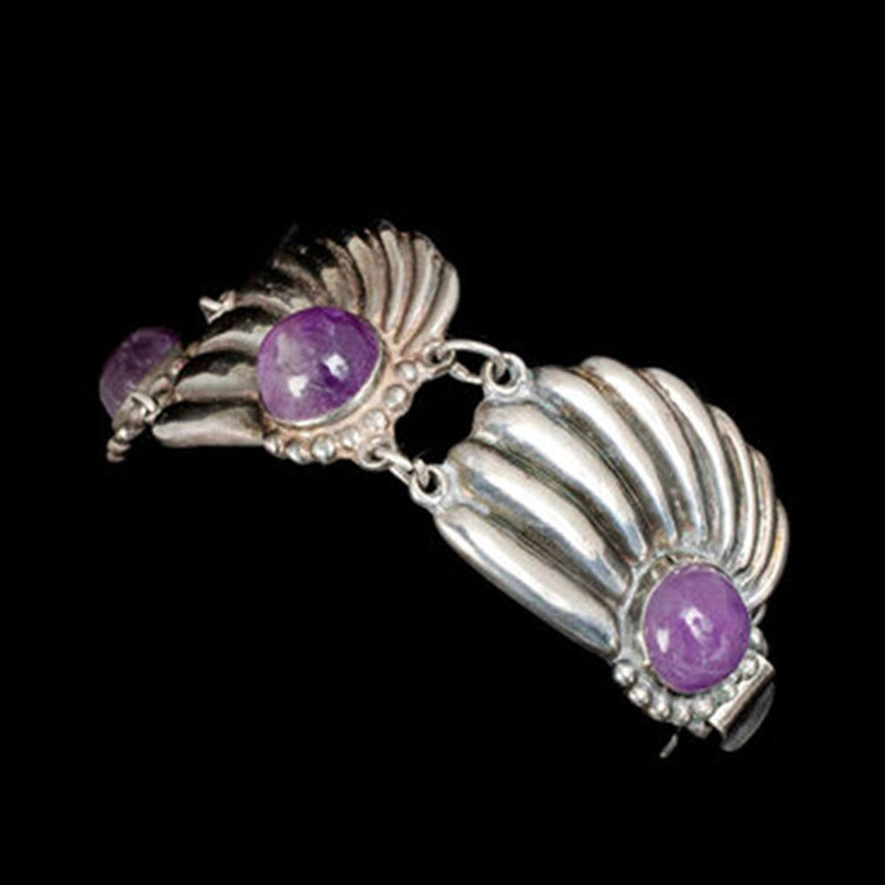 Mexican Deco silver and amethyst Bracelet