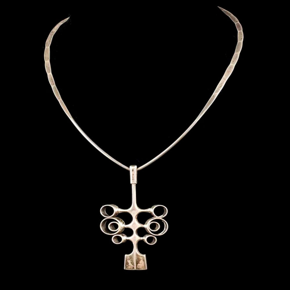 Ostern for David Andersen Norway silver modernist Pendant Necklace