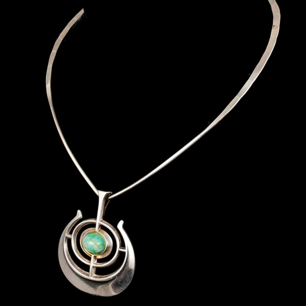Ostern for David Andersen Norway silver Pendant Necklace