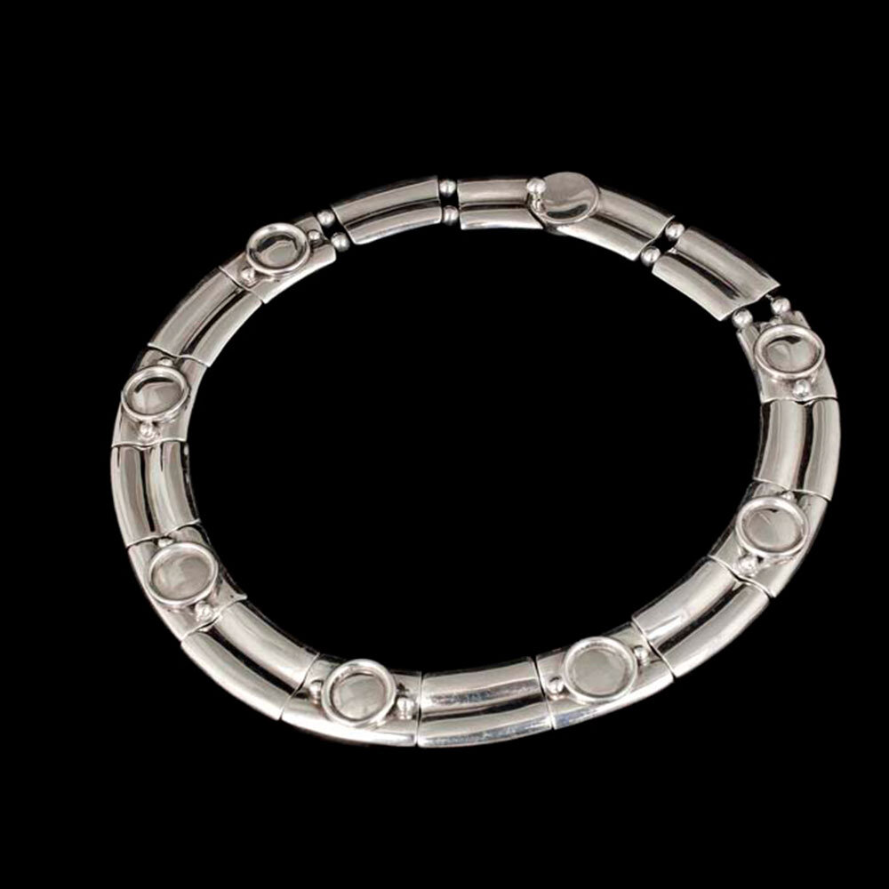 Spratling design Jondell Mexican silver Necklace ~ double bamboo