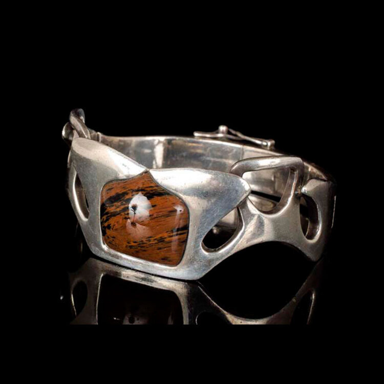 Erika Hult de Corral Ric Mexican silver modernist Bracelet