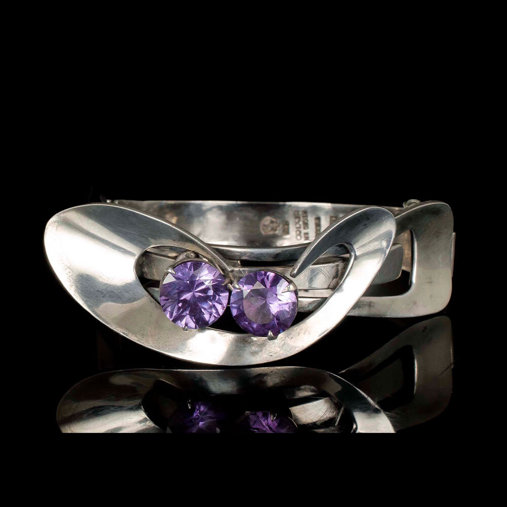 Enrique Ledesma Mexican silver modernist Bracelet