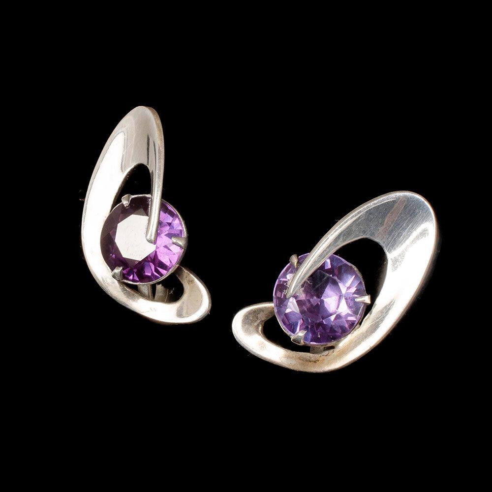 Enrique Ledesma Mexican silver modernist Earrings