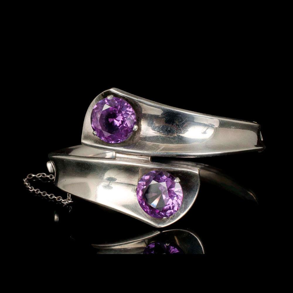 Enrique Ledesma Mexican silver and sapphire bracelet