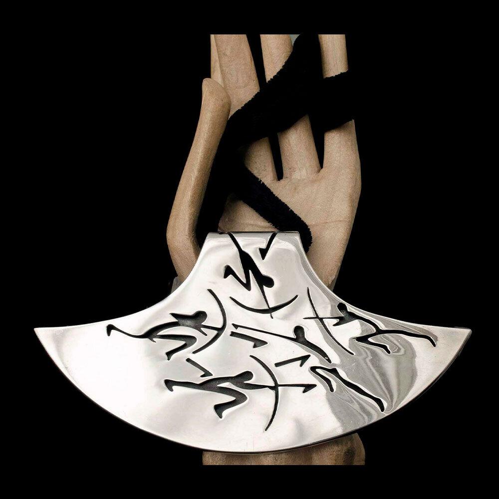 Antonio Pineda Mexican 970 silver pre-historic hunters Necklace