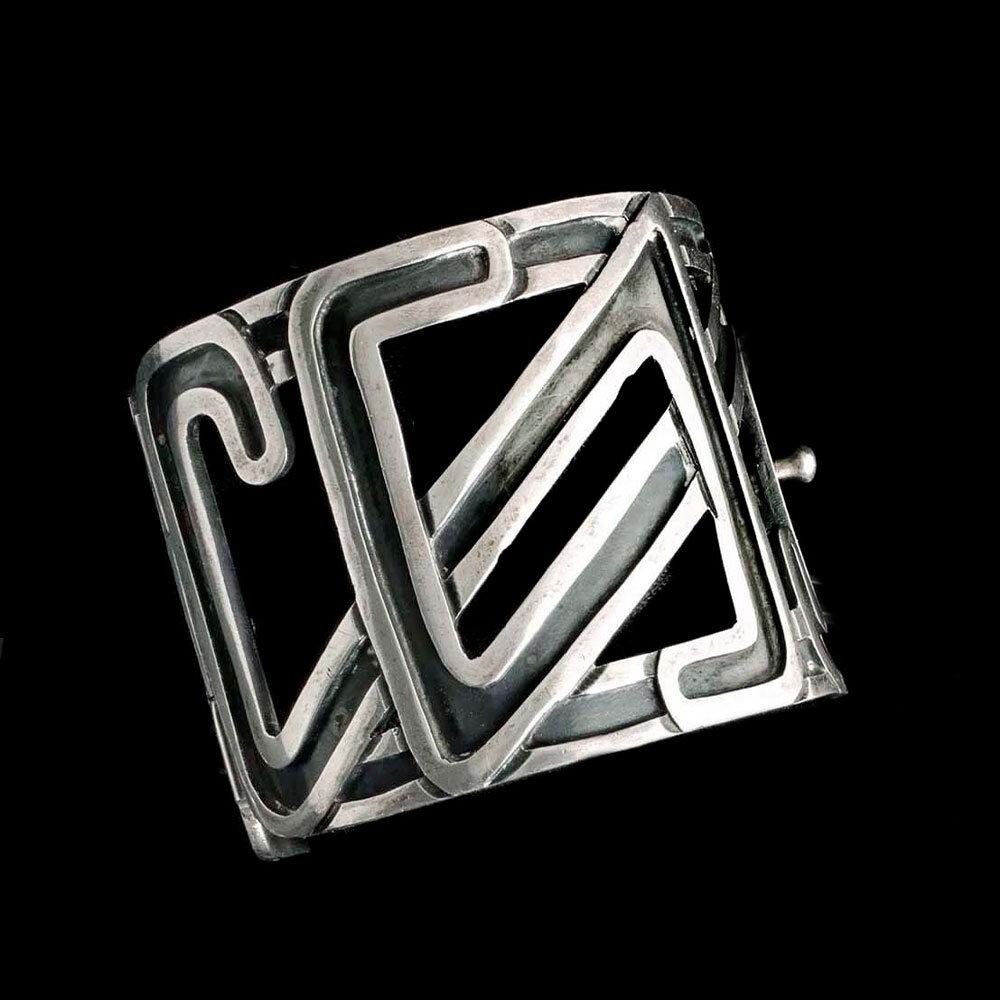 Margot de Taxco Mexican silver geometric Bracelet