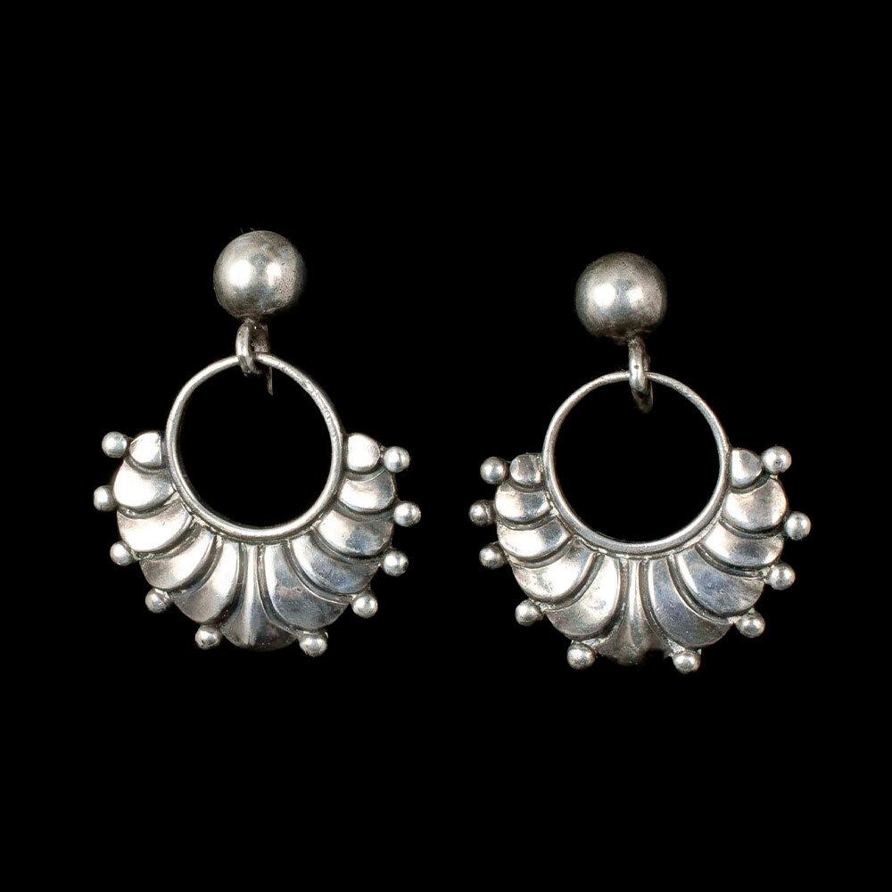 Margot de Taxco Mexican silver dangle Earrings