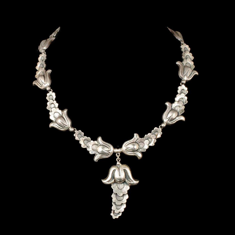 Marcel Boucher Parisina Mexican silver floral Necklace