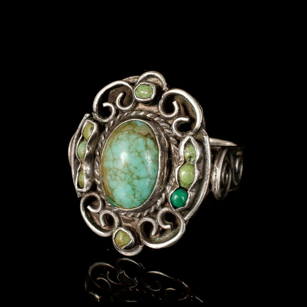 Matilde Poulat Matl Mexican silver turquoise Ring