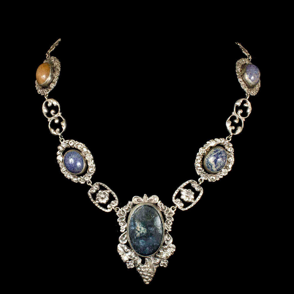 Italian Renaissance Revival silver and sodalite Necklace