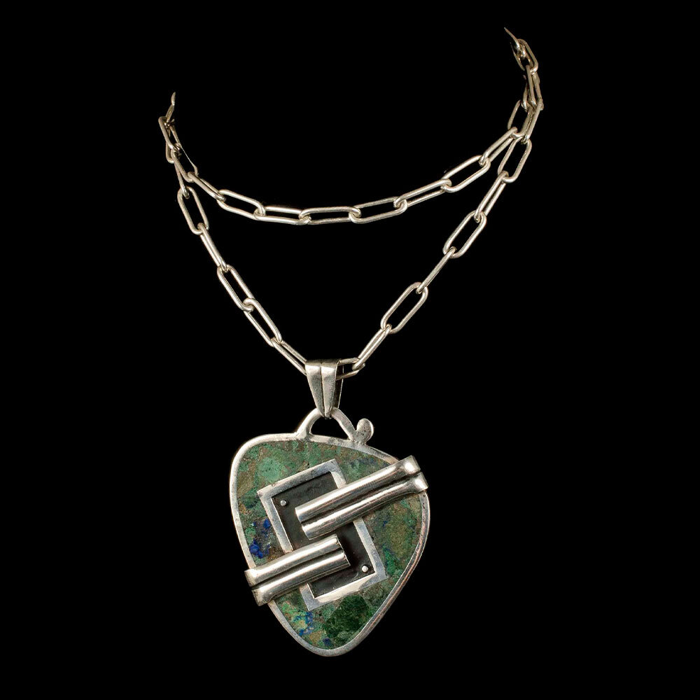 Nestor Mexican silver two-sided Pendant Necklace