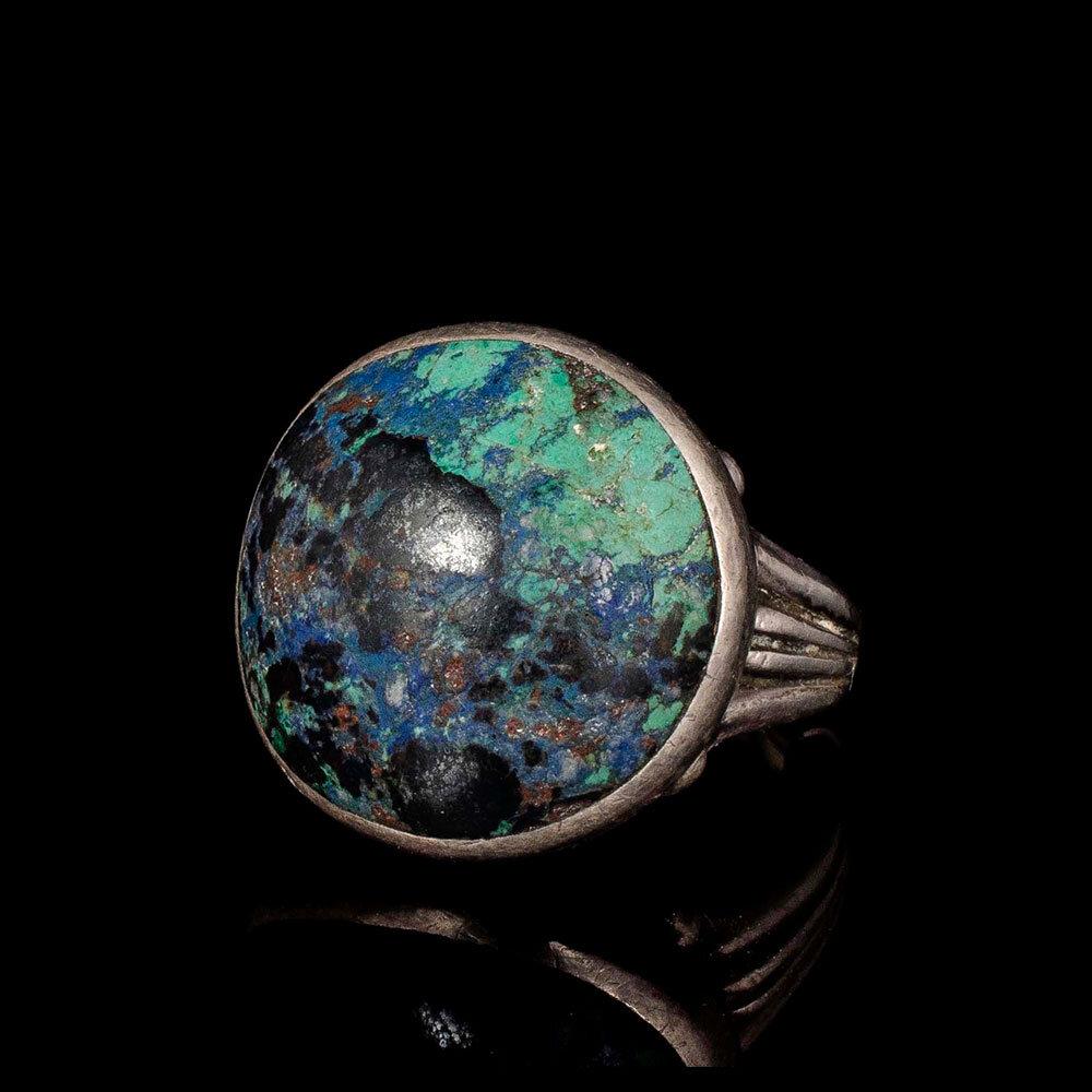Felipe Martinez Piedra y Plata Mexican silver azur malachite Ring