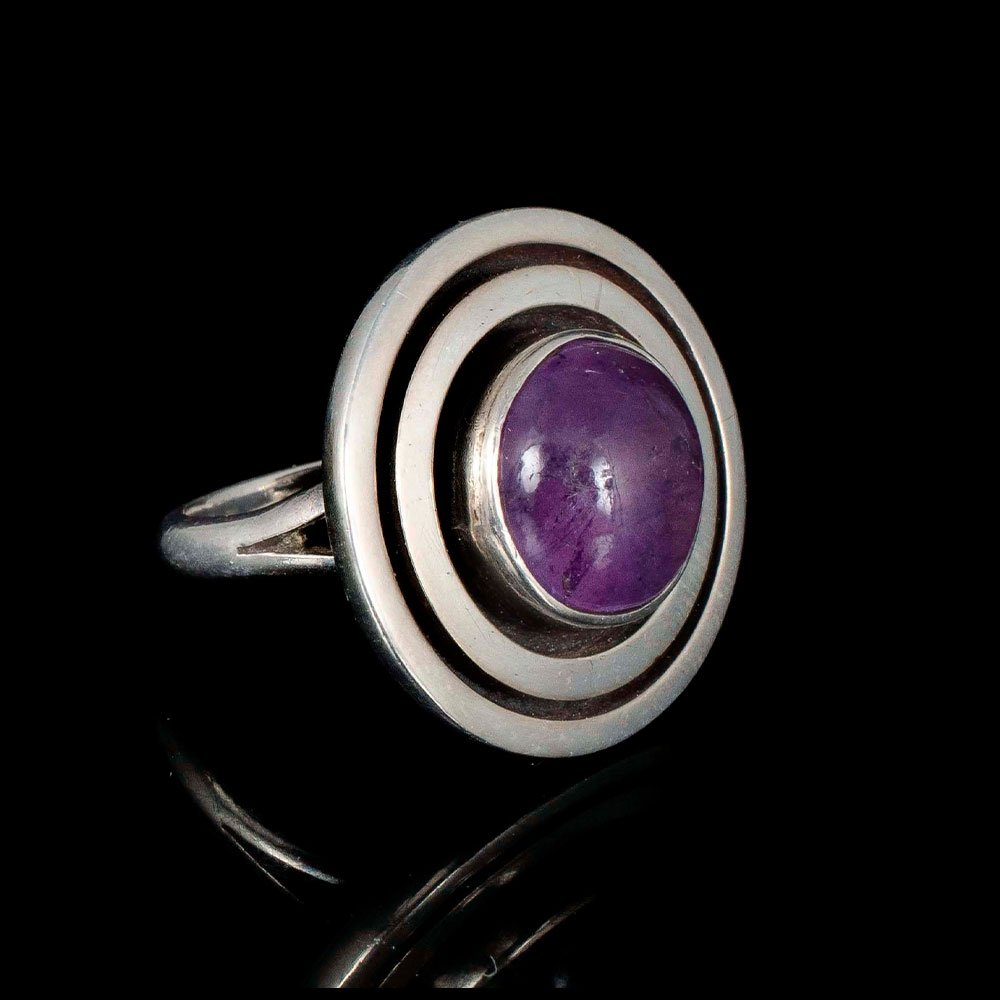 Carmen Beckmann Mexican silver and amethyst Ring
