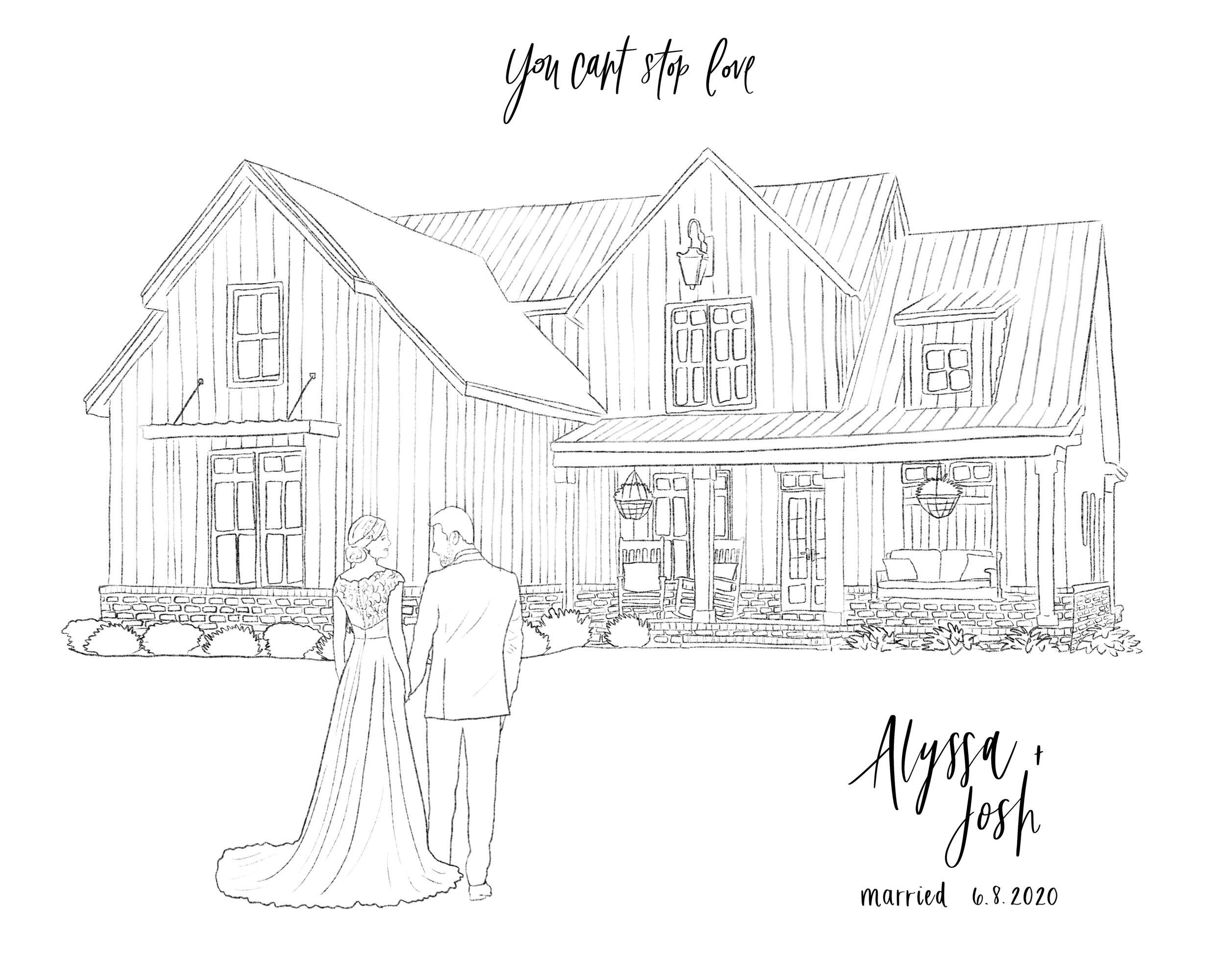 wedding venue illustration