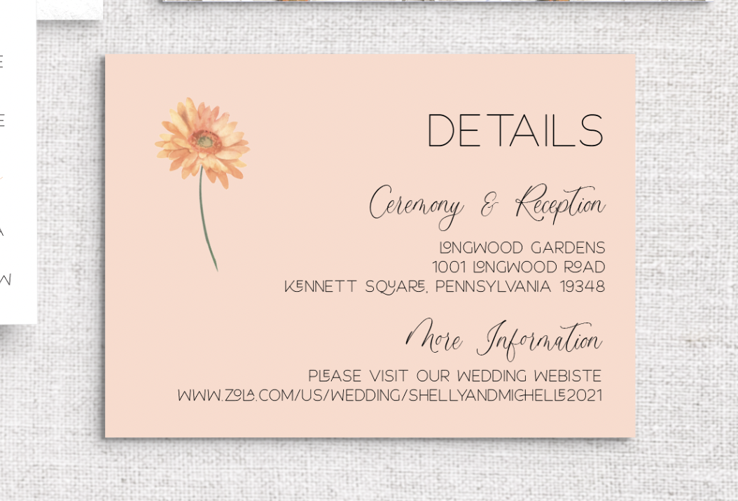 what should I include on my wedding details card?