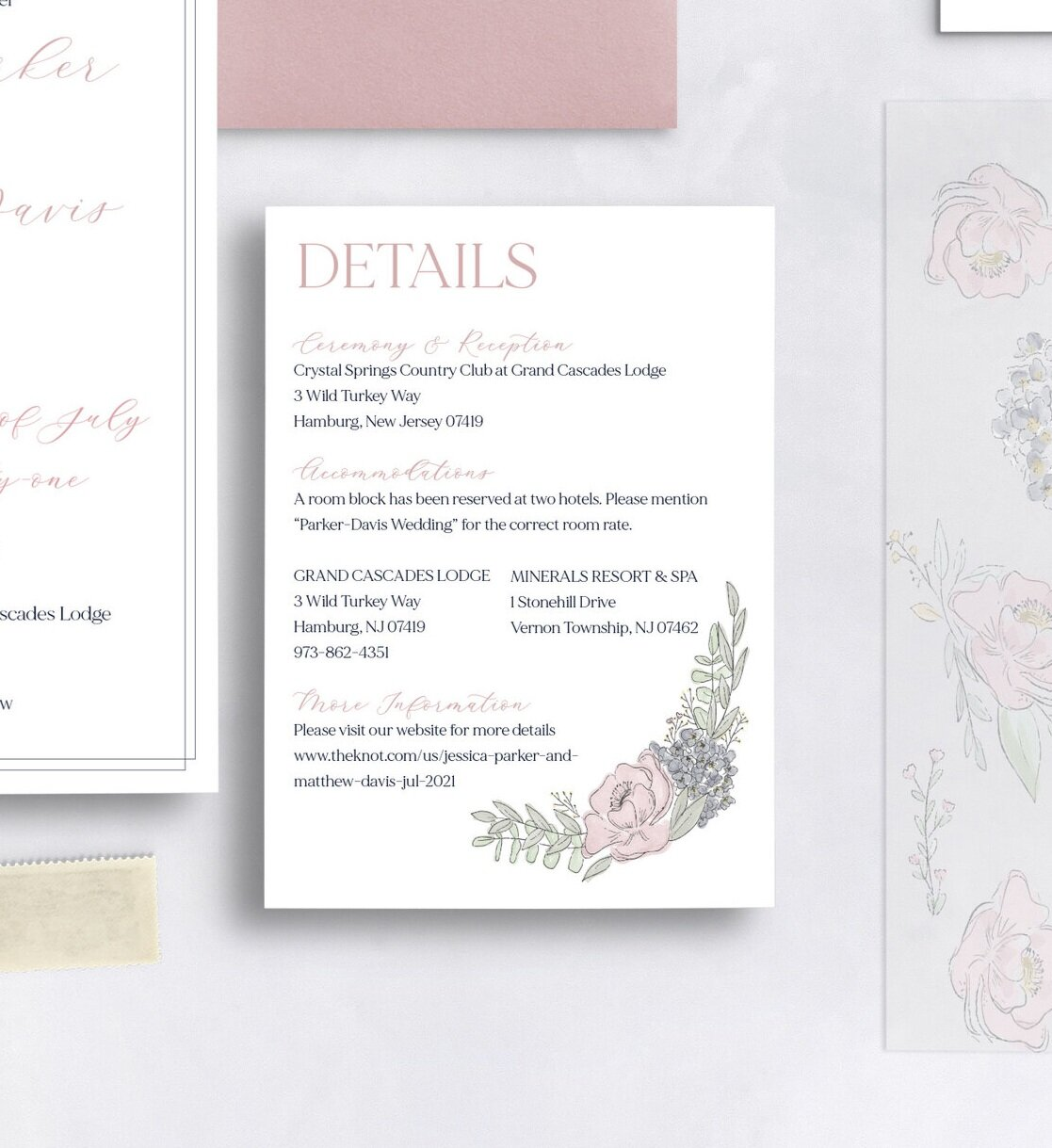 what should i include on my wedding details card