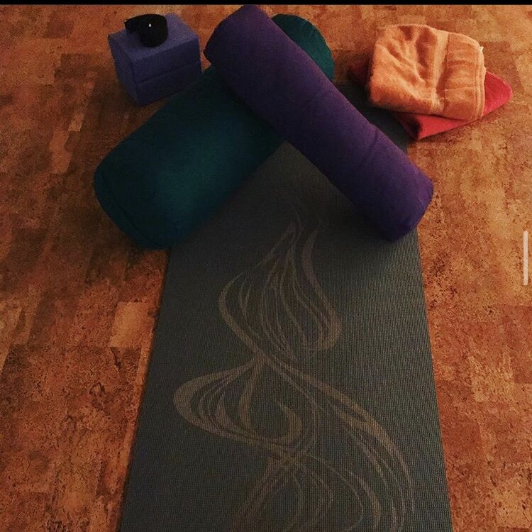 Restorative Yoga - A gentle, slow, still style of yoga that involves long, passive holds in a series of restful poses. Supported by props to enhance or deepen their experience, and help open the skeletal and muscular system of the body. Helping to achieve a state of total relaxation and release.