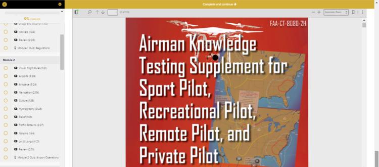 FAA Remote Pilot Testing Supplement