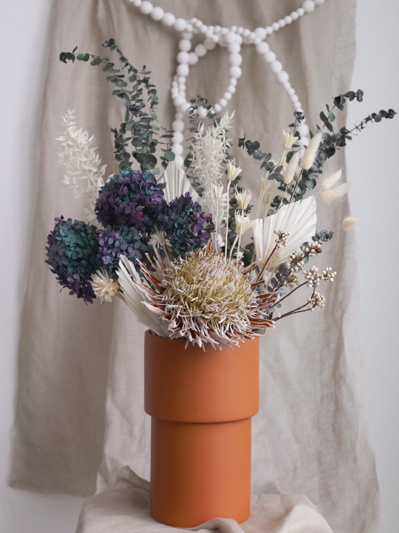 Winter Forever Bloom Arrangement Dried Flower Arrangement Rozgol S