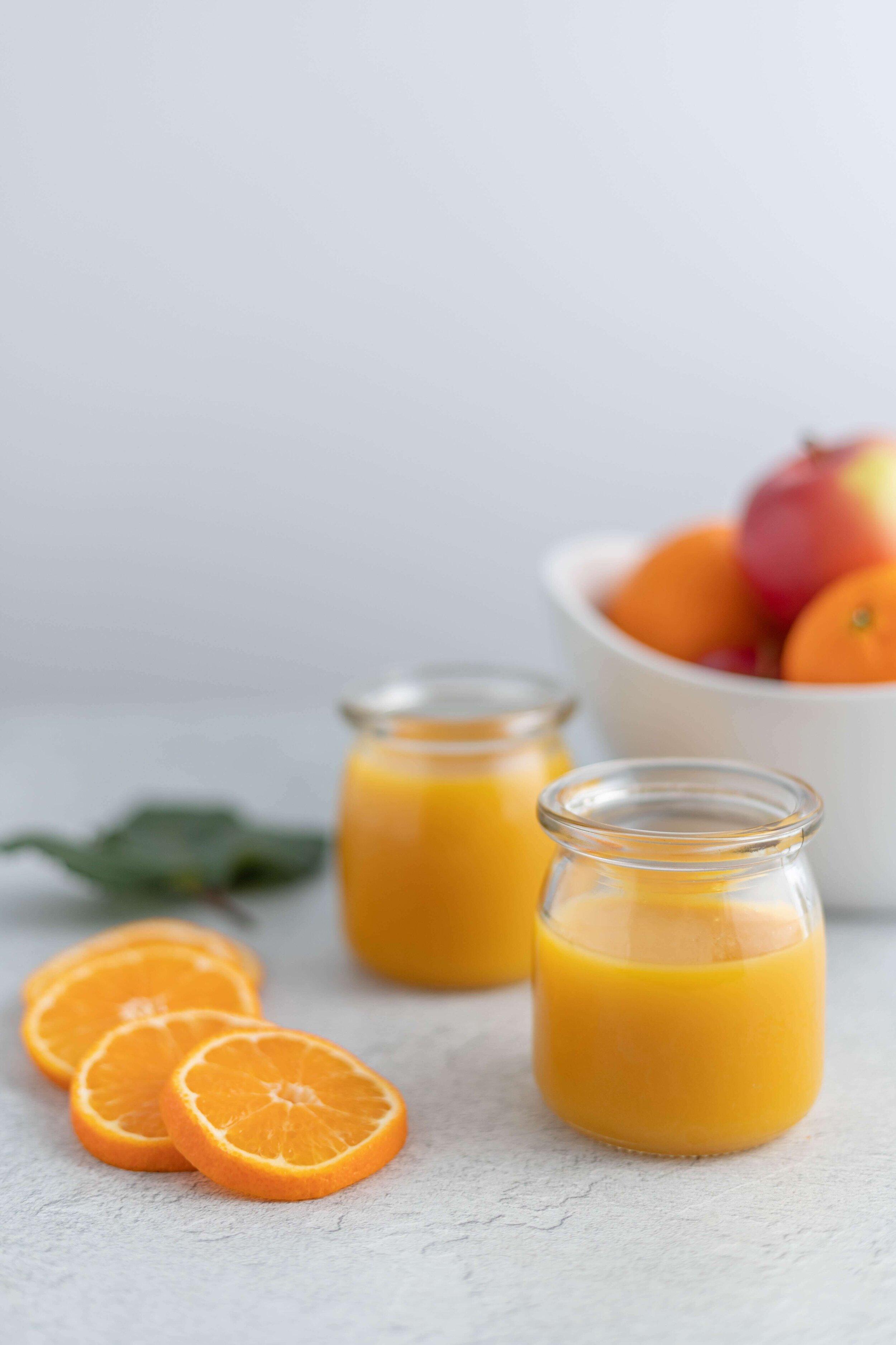 fresh high calcium orange juice