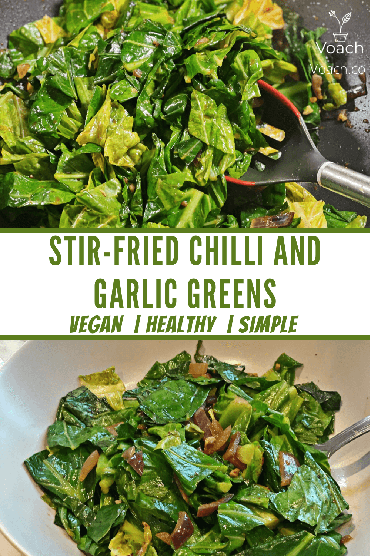 Stir Fried Chilli and Garlic Green