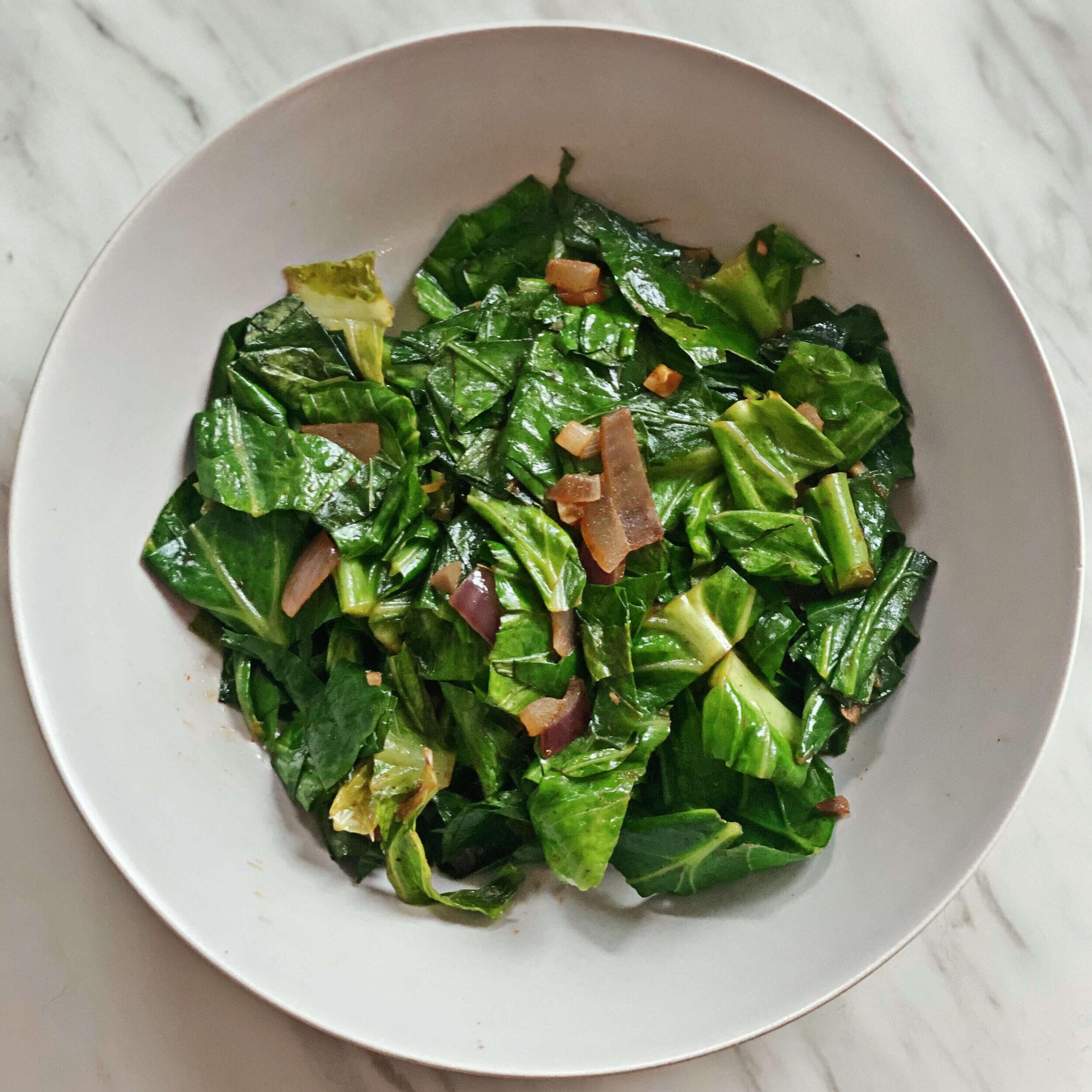 healthy stir fried greens